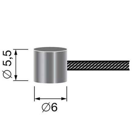 6306970 - Câble souple à embout tonneau de CHS Pièces Détachées