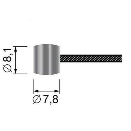 6306972 - Câble souple à embout tonneau de CHS Pièces Détachées